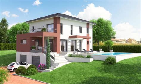 villa etage contemporaine avec sous sol et terrasse