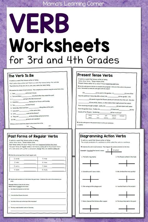 verb worksheets     grades mamas learning corner