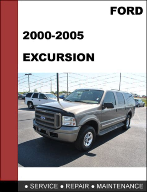 ford excursion    factory workshop service