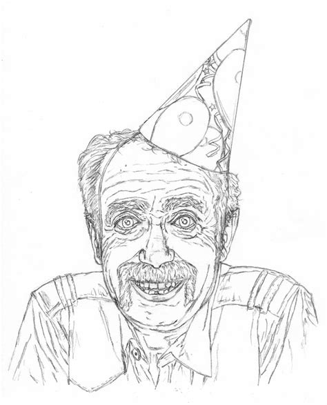 How To Draw An Old Man On His Birthday  Let's Draw People
