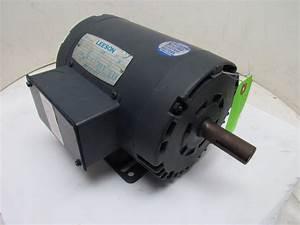 Leeson C145t17db1e 3ph Electric Motor 1 5hp 1740 Rpm 208
