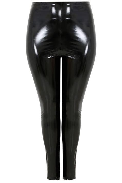 LIMITED COLLECTION - Leggings Noir Vinyl, taille 44 à 62