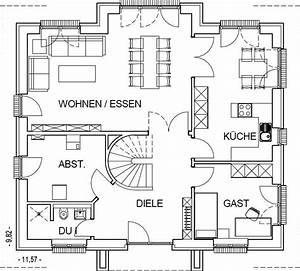 Grundriss Einfamilienhaus 200 Qm : landhaus grundriss erdgeschoss mit 92 82 m wohnfl che r ~ Lizthompson.info Haus und Dekorationen