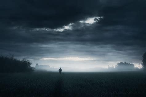 dark grass horizon rain sky wallpapers hd desktop