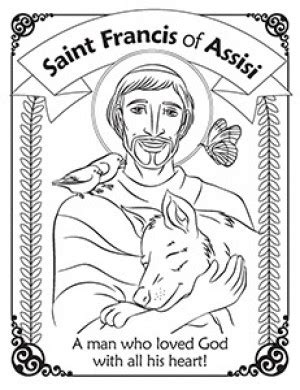 saint francis preschool francis of assisi coloring page buscar con 613