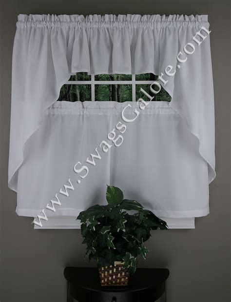White Sheer Kitchen Curtains by Ribcord Kitchen Curtain White Lorriane Sheer Kitchen