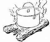 Dutch Oven Cooking Pot Campfire Recipes Coloring Bread Baking 2007 February Sketch Prepper Wheat Ovens Fun Template Eating sketch template