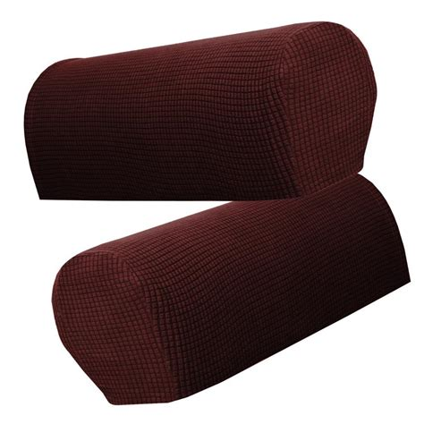 Armchair Cover Set by Flannel Spandex Stretch Armrest Covers Set Of 4