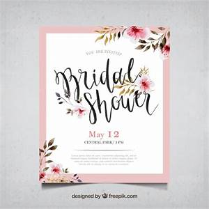 bridal shower vectors photos and psd files free download With wedding invitation design freepik