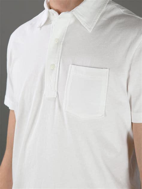 bd baggies pocket polo shirt  white  men lyst