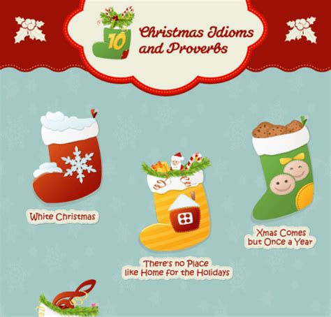 christmas idioms  phrases infographic  learning