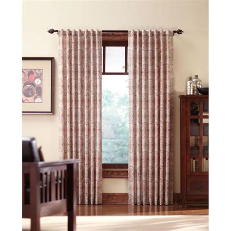 Back Tab Drapes by Home Decorators Collection Semi Opaque Spice Filigree Back