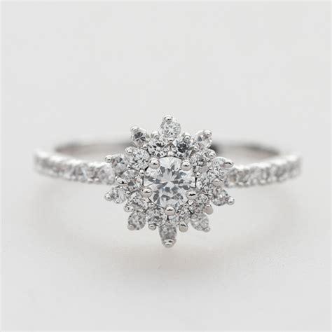 delicate cubic zirconia wedding ring in silver bridal