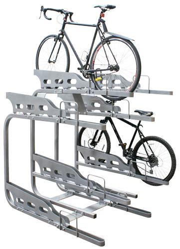 dero bike racks dero duplex 2 tier bike parking system