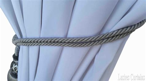 drapery cord tassel silver window treatment curtain drapery wood tassel doubel