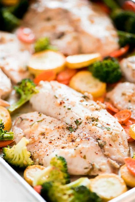 baked tilapia  roasted veggies  recipe critic