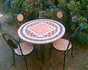 Ceramic tiles mosaic garden furniture buy from agrimexco for Mosaic garden table