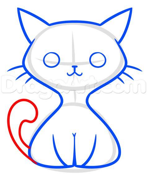 kawaii black cat drawing lesson step  step drawing