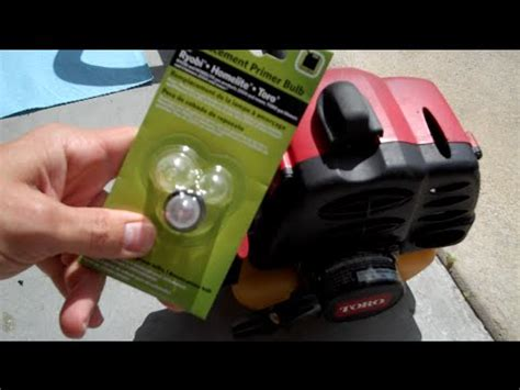 primer bulb   replacement weed eater toro youtube