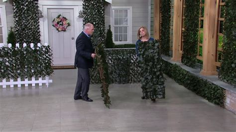 compass home expandable faux ivy privacy fence with lights compass home set of 2 expandable faux ivy privacy fences