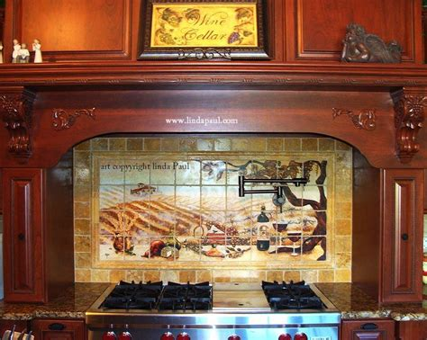 Kitchen Backsplash Tile Murals By Linda Paul Studio By