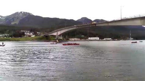 Ten Canoes Youtube by 2014 Celebration Canoes Arrive In Juneau Under Juneau