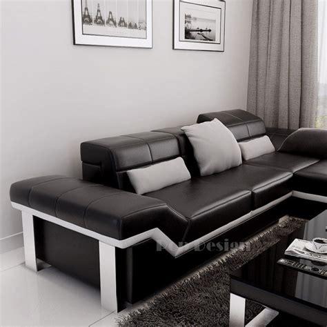 canapé d angle en cuir canapé d 39 angle design en cuir torino pouf pop design fr