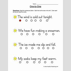 Reading Fluency Worksheets Resources