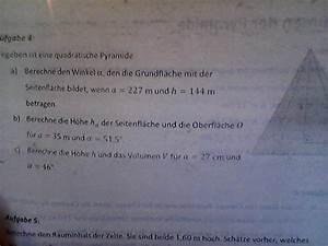 Quadratische Pyramide A Berechnen : quadratische pyramide berechnen mathelounge ~ Themetempest.com Abrechnung