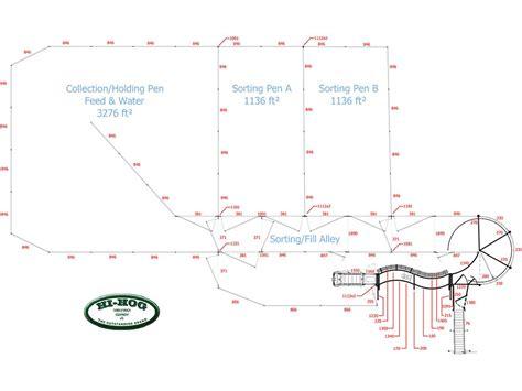 cattle corral range designs hog hi sample livestock plans