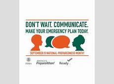 National Preparedness Month National Day Calendar