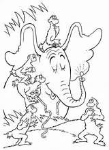 Coloring Horton Hears Seuss Characters Adult Suess Elephant Ausmalbilder Worksheets Colorare Disegni 99coloring Bojanke Colorear Dibujos Torna Ortone Template sketch template