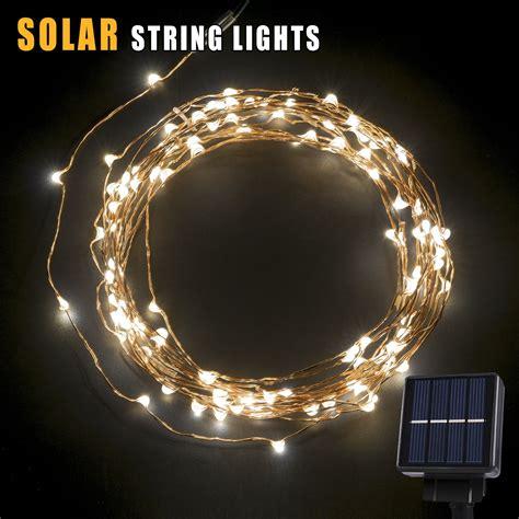 solar bulb string lights solar led string light 120 leds outdoor solar powered led