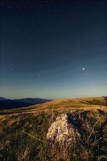 Meadow Night Saw Coast Moon North Monument