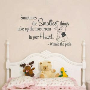 quote winnie pooh wall decal lettering winnie pooh bedroom wall sticker ebay