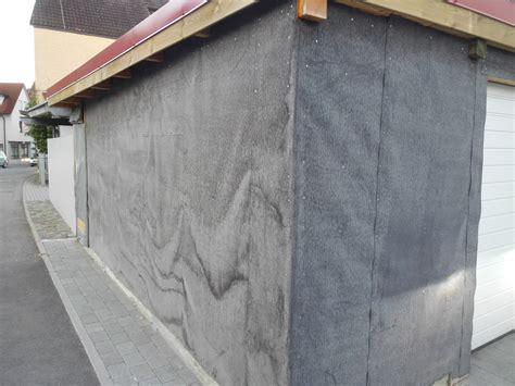 aussenwand vor feuchtigkeit schützen wir verkleiden unsere garage mit einer holzlattung