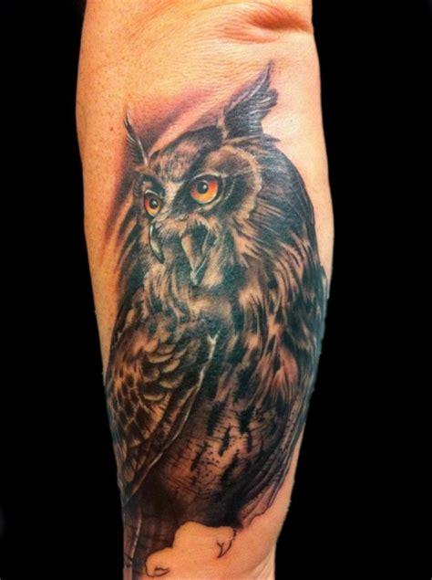 foto de Spriegel: Eule Unterarm Außenseite 4 5 Std Tattoos von