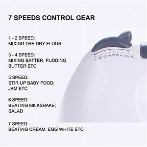Mini Mixer Home Appliances 7 Speed Control Electric Manual