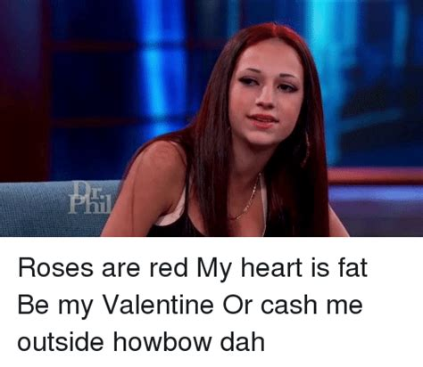 Cash Me Outside Memes - r roses are red my heart is fat be my valentine or cash me outside howbow dah relatable meme