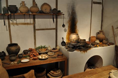 reconstruction of a kitchen at the museum of