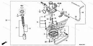 Honda Motorcycle 2011 Oem Parts Diagram For Carburetor