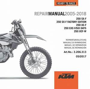 Ktm Dvd Repair  Service Manual 250 Sx-f    Xc-f    Exc-f    Xcf-w 2005-201
