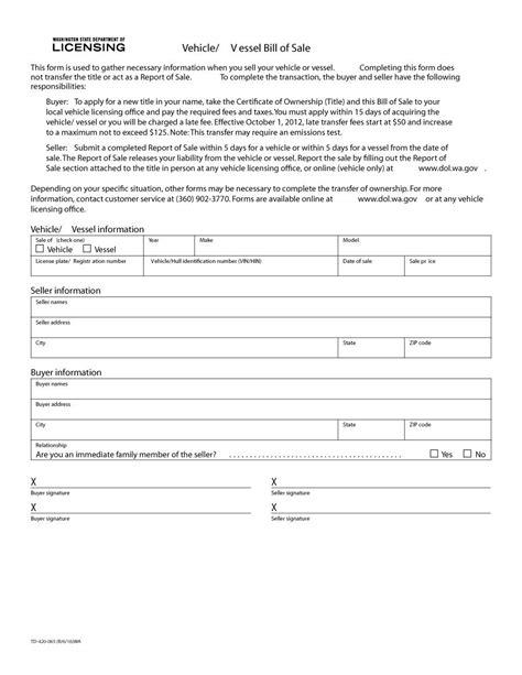 vehicle templates wa vehicle bill of sale vehicle ideas