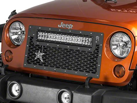 jeep light bar grill rigid industries wrangler grille mount for 20 in e series