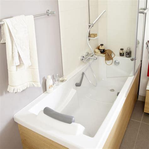 baignoire rectangulaire l 175x l 75 cm blanc sensea