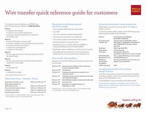 Wire Transfer Quick Reference Guide For Customers