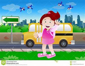 Kids go to school stock illustration. Illustration of ...