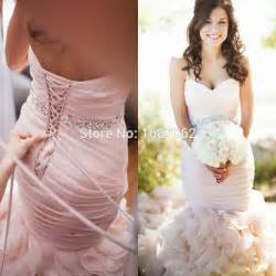 blush plus size wedding dress aliexpress buy 2016 plus size blush pink mermaid wedding dresses bridal gowns