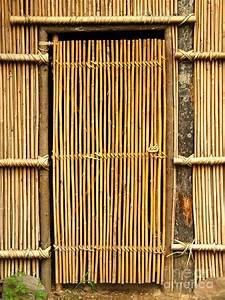Simple Bamboo Door Photograph by Yali Shi