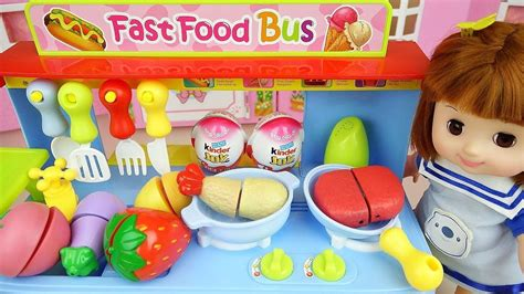 Baby Doli And Food Car Toy With Surprise Eggs Baby Doll...